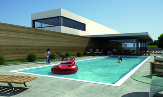 Piscina suelo elevable